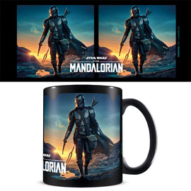 Poster - Star Wars The Mandalorian -  Nightfall - black