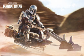 Poster - Star Wars The Mandalorian - Speeder Bike