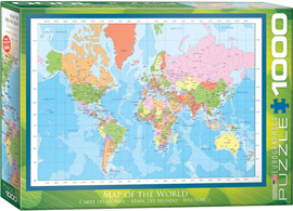 1000 Teile Puzzle Moderne Weltkarte - Modern Map of the World