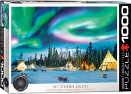 1000 Teile Puzzle Nordlichter in Yellowknife