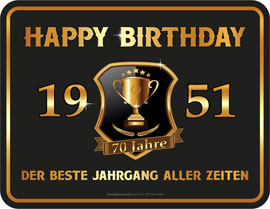 70 Jahre Happy Birthday 1951