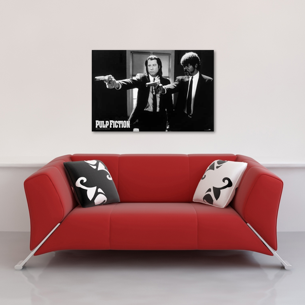 pulp fiction guns poster 91 5x61. Black Bedroom Furniture Sets. Home Design Ideas
