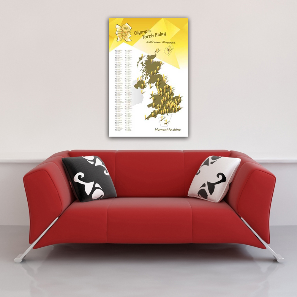 London 2012 - Poster - Olympics - Torch Relay Vorschau Sofa