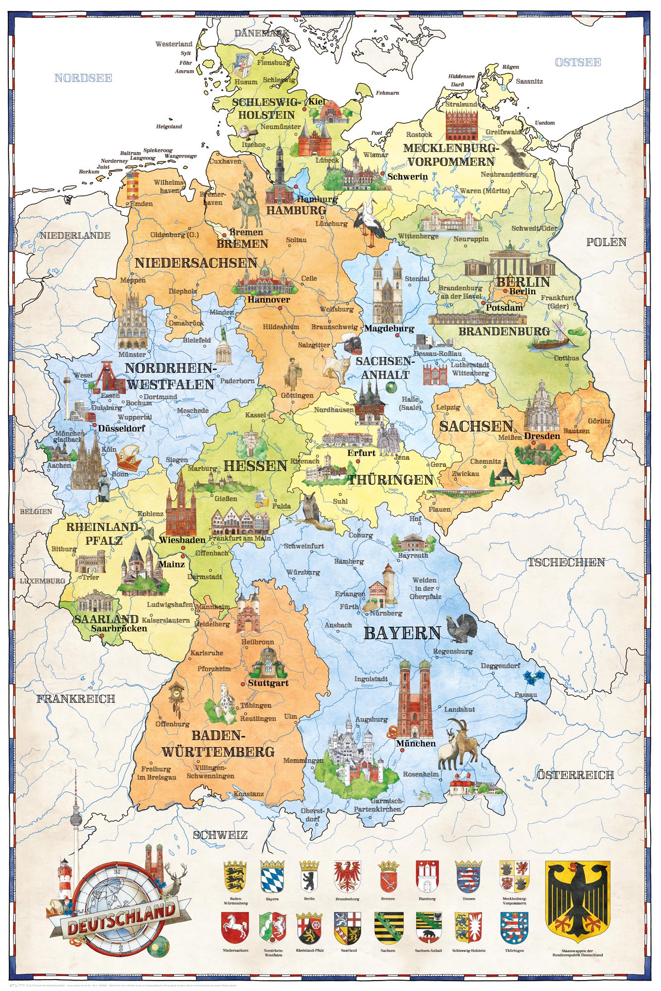 Rubbelkarte Deutschland