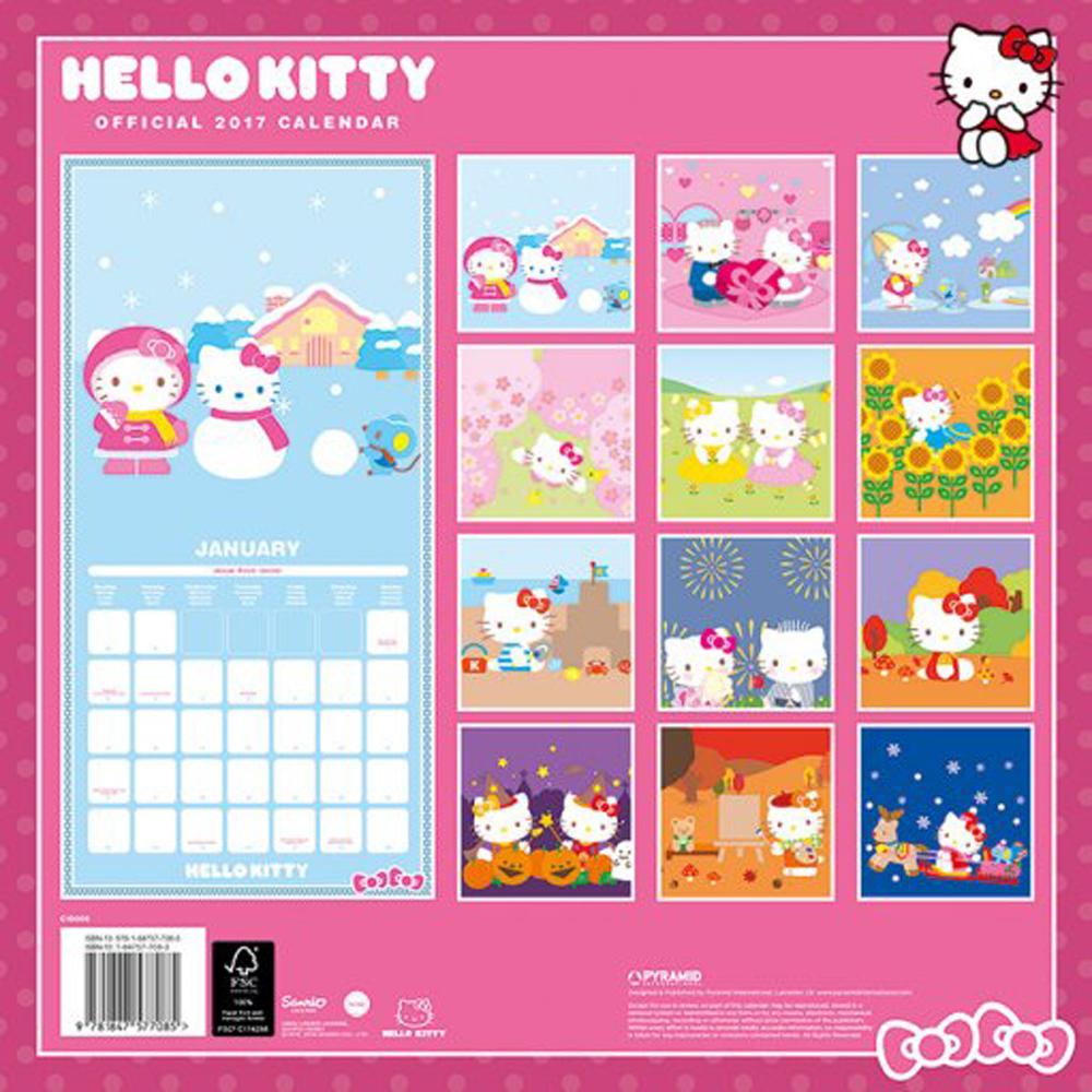 Hello Kitty - Offizieller Comic Kalender 2017 - Kalender - 30x30