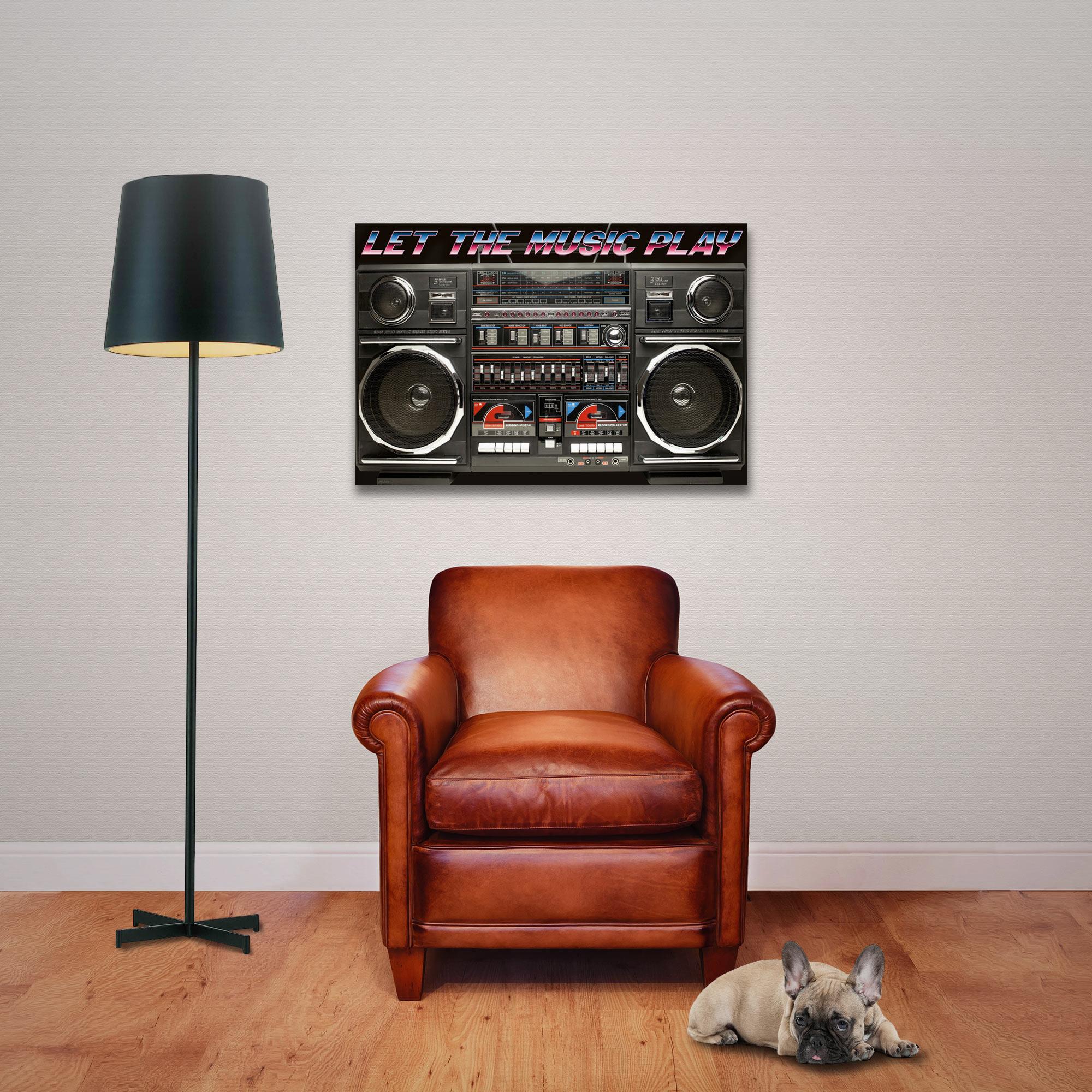 Ghettoblaster - 80s Boombox – Let the music play - Poster Druck ...