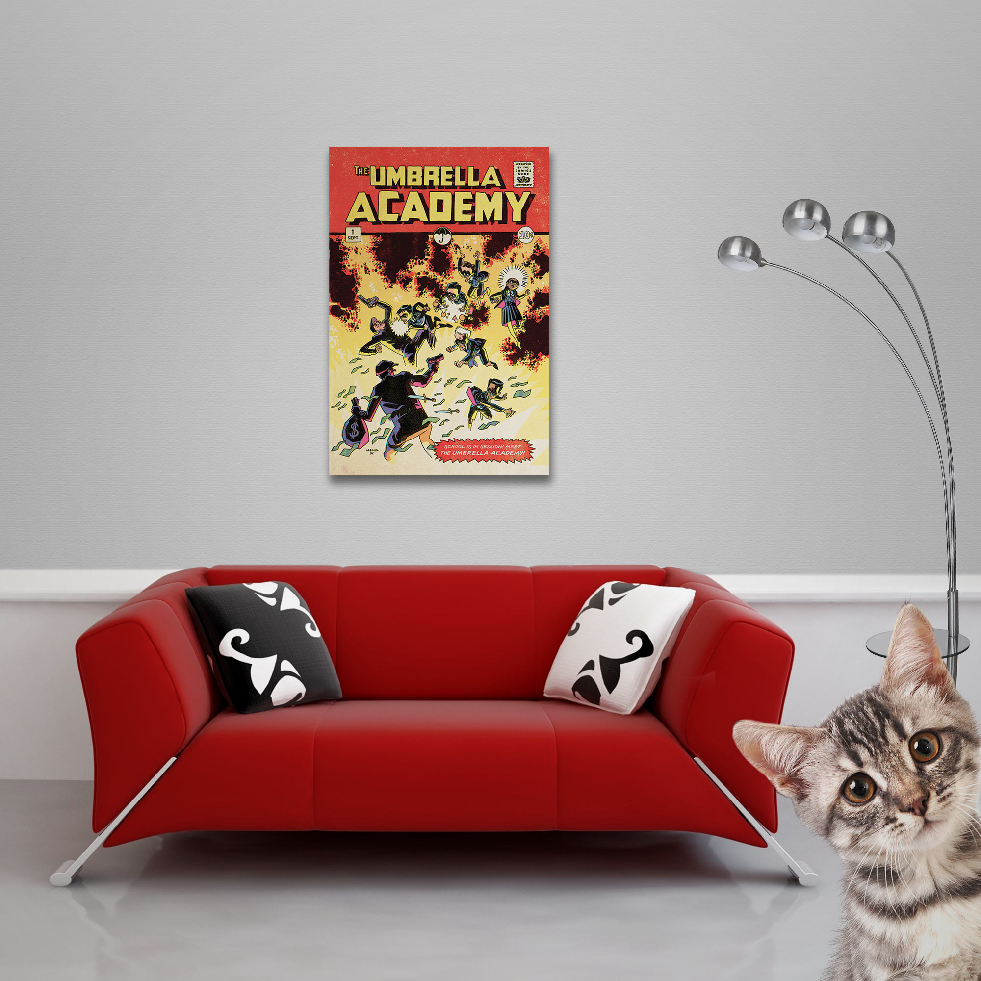 The Umbrella Academy - Poster - School is in Session Vorschau Sofa