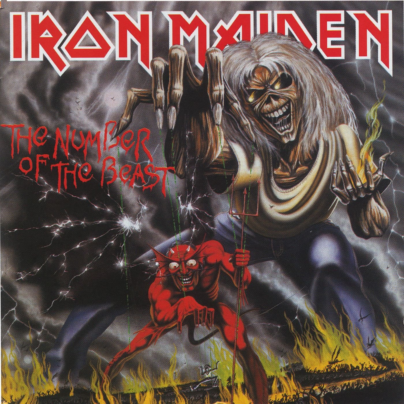 1000 Teile LP Cover Puzzle - Puzzle - Iron Maiden The Number Of The Beast Vorschau Sofa